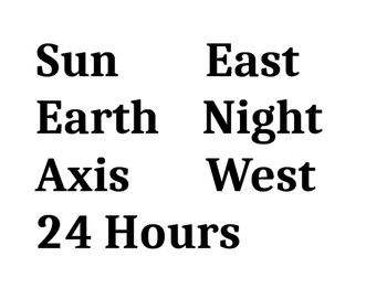 Science TEKS 5.8C Day and Night Cycle Interactive Word