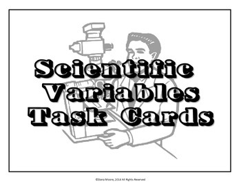 Science Variables SCOOT / Task Cards by The Vibrant VA