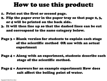 Scientific Method Activity for any Experiment by Science