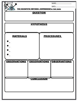 Scientific Method Worksheet by Yellow Goose Lane | TpT