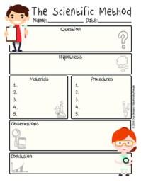 Scientific Method Worksheet PDF English/Mtodo Cientfico ...
