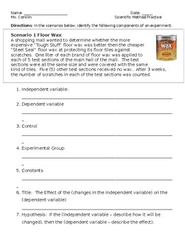 Scientific Method Worksheet Teaching Resources | Teachers Pay Teachers