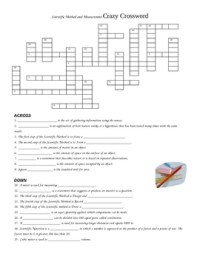 Scientific Method and Measurement Crossword Puzzle Review ...