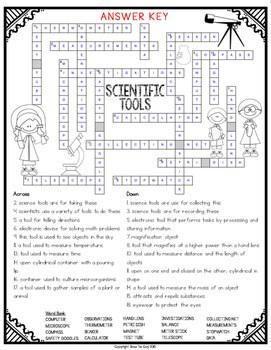 Scientific Tools Comprehension Crossword by Bow Tie Guy