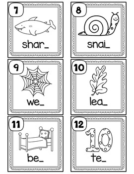 Ending Sounds Scoot or Task Cards by Teaching With Love