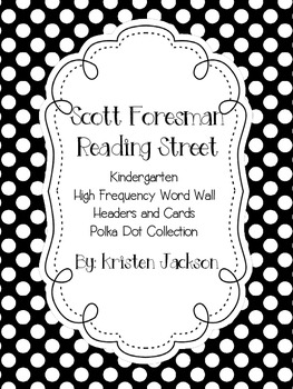 Scott Foresman Reading Street Kindergarten Word Wall Cards