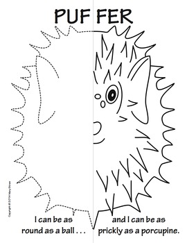 Sea Creatures Symmetry Activity Coloring Pages by Mary