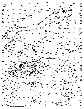 Sea Turtle Extreme Dot-to-Dot / Connect the Dots PDF by