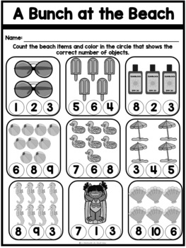 Sea You in Kindergarten {A No Prep Summer Packet for End
