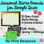 Seasonal Game Boards For Google Drive No Print Speech
