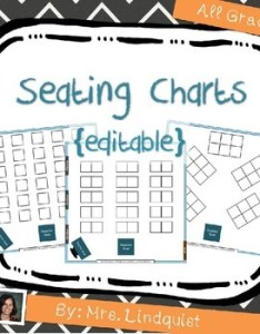 Seating charts editable back to school also by mrs lindquist tpt rh teacherspayteachers