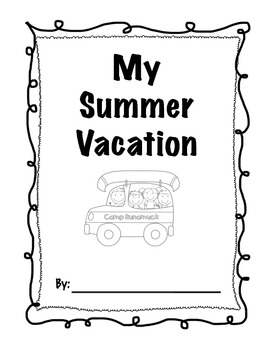 Second Grade Back to School Summer Vacation pack by