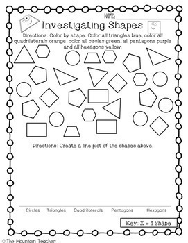 Second Grade Geometry Unit Shapes and Fractions by The