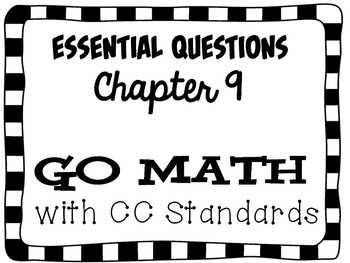 Second Grade Go Math Essential Questions Chapter 9 by