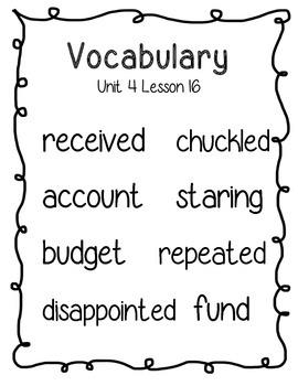 Journeys Second Grade Vocabulary Posters by Jenna Howansky