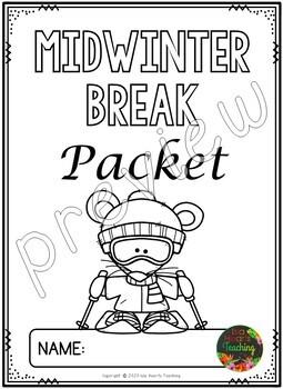 Second Grade Mid Winter Break Packet (Second Grade