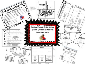 Second Grade Social Studies Interactive Notebook-Geog