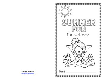 Second Grade Summer Review Packet / Booklet by Surfin