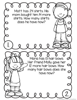 Second Grade Word Problems by Christine's Crafty Creations