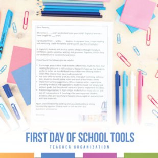 Secondary Classroom First Days of School Presentation, Parent Letter, and More
