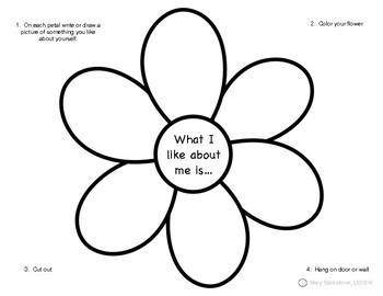 Self Esteem: Spring Worksheets & Activities by Positive