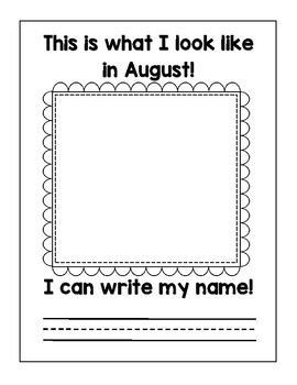 Self Portrait and Name Writing Monthly Practice by Teach