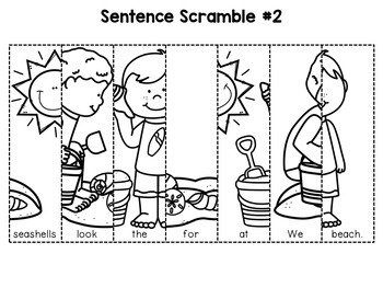 Kindergarten Sentence Building (Summer Edition) by