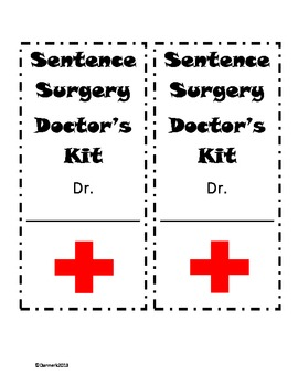 Sentence Surgery Doctor's Starter Kit (editing) by dannerk