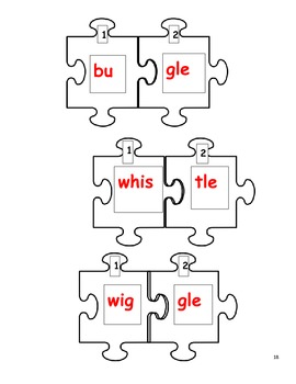Separating Syllables! /Consonant le Words by Essential