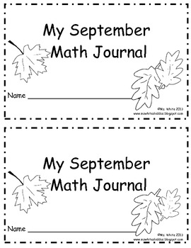 September Daily Math Journal: 2nd Grade Common Core by Ms