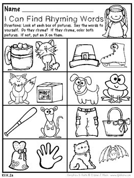 September Kindergarten Math and Literacy Packet NO PREP