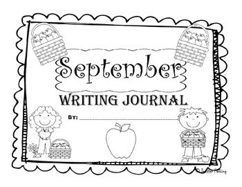 September Kindergarten Writing Prompts and Journal Pages