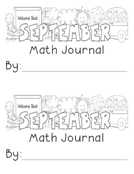 September Math Journal Prompts for 2nd Grade by Samantha