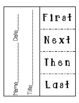 Sequence of Events Flip Chart by The Teacher's Cooke Book