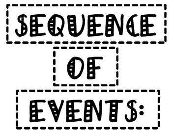 Sequence of Events and Transitional Word Examples Anchor