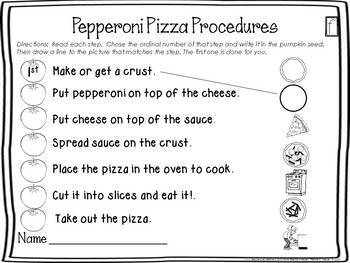 Sequencing Craft Making Pizza By Teachers Keeper