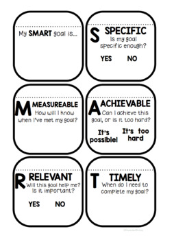 Setting SMART Goals Lesson and Booklet Freebie! by