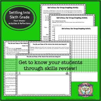 Settling into Sixth Grade: First Weeks' Activities and