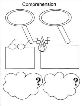 Seven Reading Comprehension Strategies Graphic Organizer