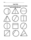 Free 1st grade Fractions Worksheets Resources & Lesson