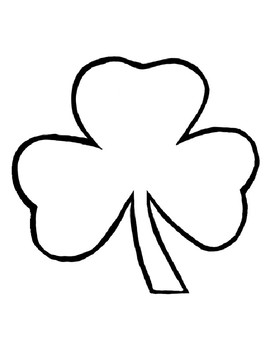 Shamrock Template for Art Project Shamrock Coloring Page