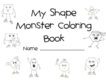 Shape Monsters Coloring Pages and Activities by Lorena