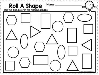 Shape Up! Flat and Solid Shapes Kindergarten Math Center