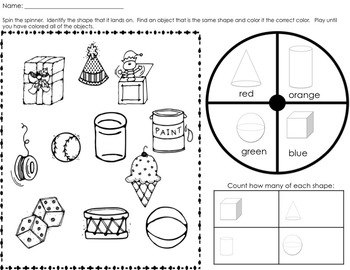 Shapes Activities- Solid and Flat Shapes by Melissa Moran