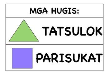 Shapes Mga Hugis Basic Filipino By Teacher Klar