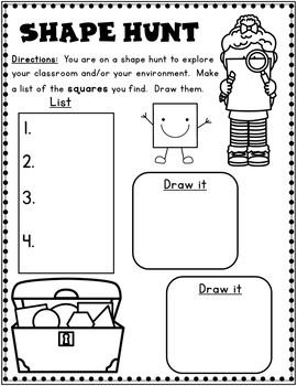 Shapes Worksheets: Kindergarten 2D Shapes by Bilingual