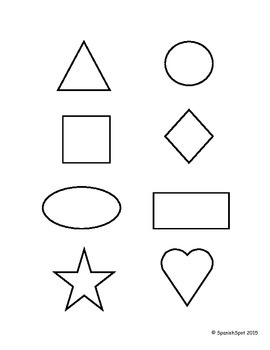 Shapes in Spanish / Las Formas- Vocabulary list