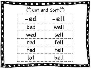 Short Vowel Word Family Sor... by Little Owl's Teacher