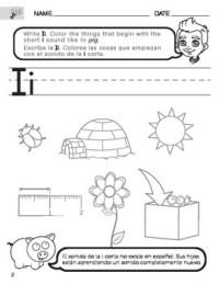 Short I Sound Worksheet with Instructions Translated into ...