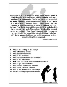 Short Stories with Comprehension Questions by Functional